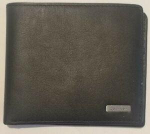 Calvin Klein Mens Leather Wallet Card Holder Black CK Genuine Never used.