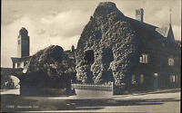 Visby Gotland Schweden s/w AK 1927 gelaufen Burmeisterska huset Straßenpartie