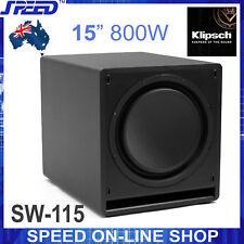 """Klipsch SW-115 800watt 15"""" Subwoofer - Black - (Ex Display Unit)"""