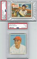 1954 Topps Scoop BABE RUTH + 1933 Goudey MONTE WEAVER PSA EX 5 Graded Card Lot