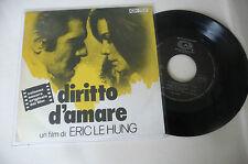 """PHILIPE SARDE"""" DIRITTO D'AMARE-disco 45 giri CAM it 1972""""OST-RARO/PERFETTO"""
