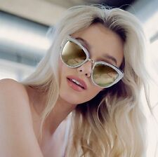 "QUAY AUSTRALIA PEARL/GOLD ""MY GIRL"" CAT EYE MIRROR  SUNGLASSES"