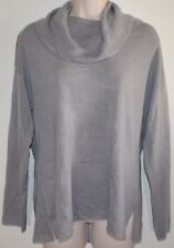 New Women's Knit Cowl Scoop Soft Sweater Shirt Top size S small Gray