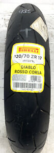 Pirelli Diablo Rosso Corsa    120/70zr17 58w   New Unused Motorcycle Tyre 935