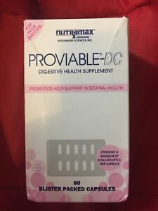 Nutramax Laboratories Proviable-DC Dog and Cat Capsules - 80 Count - EXP 05/2022
