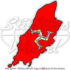"ISLE OF MAN Map-Flag MANX UK British 4,7"" Bumper Sticker, Decal"