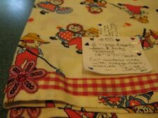 """Vintage 2-Piece Set Of """"Raggedy Ann & Andy"""" Valances (14"""" Long x 70"""" Wide)"""
