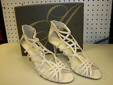 Enzo Angiolini New Womens Ennes White Strappy Heels Shoes 9.5 M
