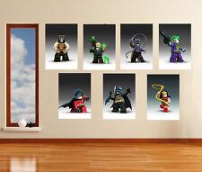 Lego Batman Charachters Wall Art Poster Set