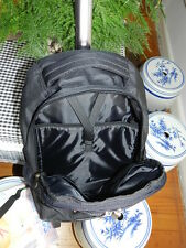 Trolley Backpack - Black with Silver Trims, for laptop or travelling