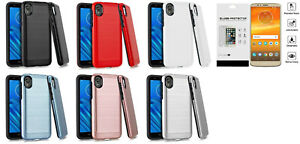 For Motorola Moto E6 XT2005DL MOTXT20051PP Slim Lining Hybrid Case Cover + TG