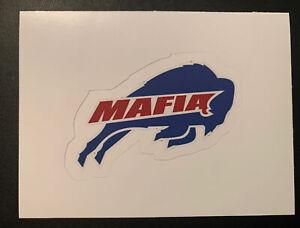 "BUFFALO BILLS MAFIA Sticker NFL Tailgate Football Logo 2.75"" x 1.75"""