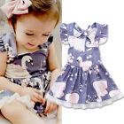 Infant Kids Girls Toddler Baby Sleeveless Princess Dress Flower Tutu Dresses NEW