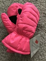 SPYDER Hot Pink 3M Thinsulate Insulated Winter Mittens Kids Sz XL Youth Puffer