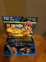 LEGO Dimensions Disc Laval #42 with Gold Chima Lion Symbol and Red Fire Print
