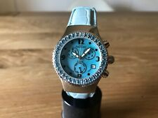Reloj AQUAMARIN SEA STAR Wrist Watch - Blue Topaz - Swiss - Leather Strap 10 ATM