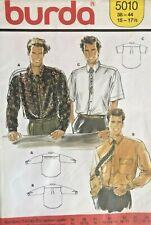 Burda Men's Shirt Pattern 5010 Size 38-44 UNCUT