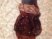 Pretty Brown Animal Print Scarf/Pashmina New