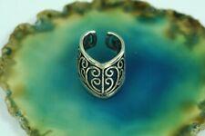 Mittelalter Ohrklemme Silber Ohrschmuck Ohrclips Spiralen feine Verzierung