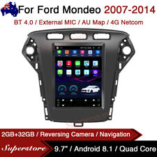 """9.7"""" Tesla Style Android 8.1 Car Stereo Navi gps For Ford Mondeo 2007-2014 4g"""