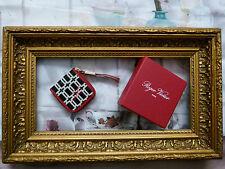 ROGER Vivier MISS x rosso portamonete con Black & White PATTERN Fibbia-NUOVISSIMO