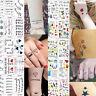 Letter Flower Temporary Tattoo Sticker Removable Waterproof 3D Fake Body Art