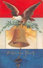 EAGLE LIBERTY BELL EMBOSSED PATRIOTIC POSTCARD 1908 107