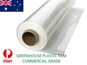 GREENHOUSE COVER PLASTIC FILM 200 micron uv age stabiliser COMMERCIAL GRADE