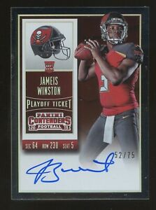 2015 Panini Contenders Playoff Ticket James Winston RC Rookie AUTO 52/75