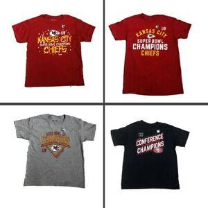 NFL Kansas City Chiefs Super Bowl LIV & Conference Champion Youth Tee Shirts New