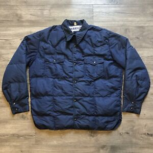 Vintage Gerry Quilted Down Filled Puffer Jacket Made in USA Hiking Pockets