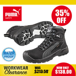 Puma Safety Work Boots 630527 Sierra Nevada Black Waterproof Lace Up NEW