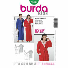 Childrens and Teenagers Dressing Gown Burda Easy Sewing Pattern
