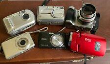 lot of 6 Digital Cameras Kodak cx7300 Z740 Sony Cyber Shot Vivitar DVR Fuji A210