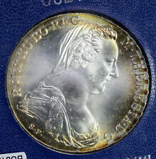 BU0123 Austria  Thaler silver Maria Teresa restrike stunning toning! combine shi