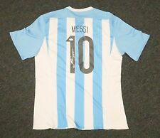 22030 Lionel Messi #10 Signed Argentina Soccer Jersey AUTO Sz XL PSA/DNA LOA
