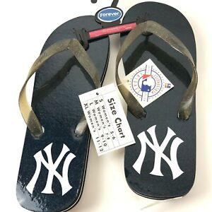 New York Yankees Logo Flip Flop Sandals Women's Size 11/12 XL