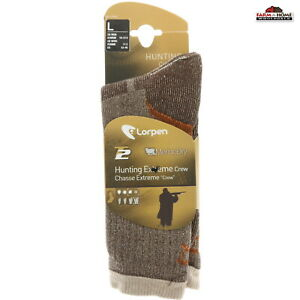 Wool Hunting Extreme Crew Socks Large Brown ~ New