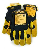 3 Pack DEWALT DPG216 Leather Performance Hybrid Glove