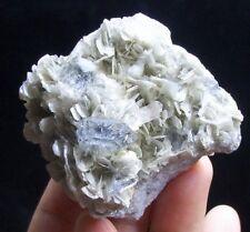 82g Perfect Aquamarine crystal Light Blue Beryl on Muscovite specimen China 1806
