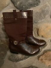 053f337dfdc2a3 New ListingSTUART WEITZMAN Women's Sz 5 Brown Faux Leather Mid Calf Boots