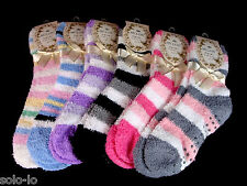 bulk 6 PAIRS WOMENS LADIES GIRLS BED SOCKS SZ 2-8 ASSORTED