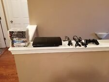 PS3 Playstation 3 Black Super Slim Console 250gb with 11 Game Bundle CECH-4001b