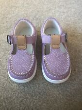 Clarks Girls Cloud Rosa Lilac Toddler Shoes Size 5F.