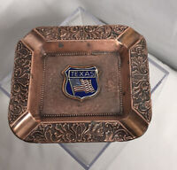 """Vintage Copper Ash Tray Texas Lone Star State Made in Japan 4x3.75"""""""