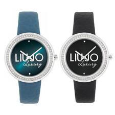 Orologio Donna LIU JO Luxury DREAM Vera Pelle Nero Azzurro Swarovski