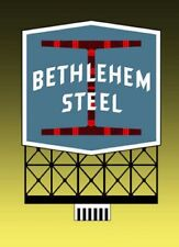 BETHLEHEM STEEL ANIMATED NEON SIGN FOR HO/N SCALE-LIGHTS, FLASHES & MORE!
