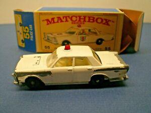 """MATCHBOX SERIES """" 55 POLICE CAR in a very nice original Box  L@@K!"""