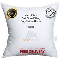 """Microfibre Cushion Pad Inners Bounce Back Ball Fibre Anti-Allergic Polyester 18"""""""