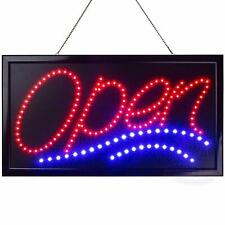 Large Led Open Sign Display Jumbo Light Up 2 Flashing Modes for Store, Shop, Bar